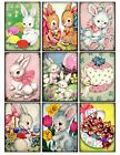 9 Easter Bunny Retro Vintage Hang Tags Scrapbooking Paper Crafts 212