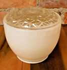 Vintage Light Shade Clear Textured White Globe Glass