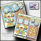 Winter Snow 2 premade scrapbook pages Paper Piecing printed 4 album by cherry