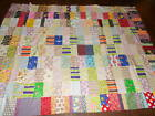 Vintage Quilt Top Machine Stitched Unfinished Full Size 65