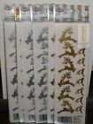 NEW Royal Langnickel Rub On Transfers Christmas Reindeers 2 Gold 6 Silver