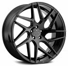 22 BLAQUE DIAMOND BD 3 GLOSS BLACK WHEELS FOR AUDI D4 D5 A8 A8L