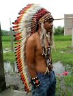 Feather Headdress Chief Indian Headdress American Native Warbonnet Feather Hat L