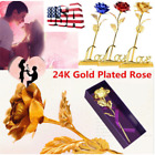 US 24K Gold Plated Rose Flower Valentines Day Mothers Day Girlfriend Gift +Box