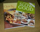 Set of 2 Weight Watchers Cookbooks Slow Good and Quick  Easy pre owned