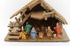 Vintage Christmas Nativity Scene Jesus Birth Holiday Italy Made 19 x 7 x 12