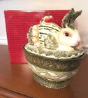 FITZ AND FLOYD VISTA BELLA COVERED VEGETABLE BOWL New in Box