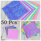 Mixed Colors Sparkling Shiny Glitter Paper Bird Boat Animal Star Origami Gift