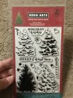 Color Layering Christmas Tree Clear Acrylic Stamp Set by Hero Arts CL887 NEW