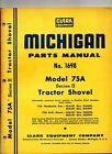Clark Michigan 75A Series II Tractor Shovel Parts Manual