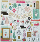 New Crate Paper  SNOW  COCOA 12 x 12 Chipboard with glitter accents Save 40