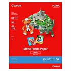 Canon 7981A004 Photo Paper Plus Matte 8 1 2 x 11 Pack of 50 Sheets
