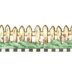 Debbie Mumm Country Picket Fence Flowers Wallpaper Border