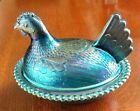 Indiana Carnival Glass Hen On Nest Chicken Covered Candy Dish