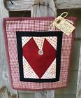 VALENTINE Heart Quilt- Scrappy Primitive Hanger - Primitives by Cyn