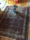 Antique Afshar Baku WOOL ORIENTAL RUG DISTRESSED PERSIAN Boteh Design