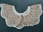 Hand Crochet Lace Collar Pineapple Gold White New