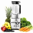 Professional Kitchen Blender 1400W Heavy Duty with Large 8 Cup Pitcher Silver