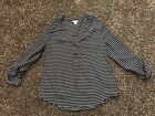 EUC Womens Black  White Rayon Dressy Top By CANDIES Size SMALL SO CUTE