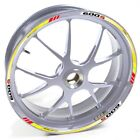 USEN Sticker wheel Rim Honda silver CBF 600 S 600S 600-S Yellow Red strip tape v