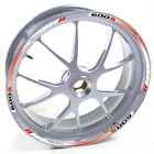 USEN Sticker wheel Rim Honda silver CBF 600 S 600S 600-S Red White strip tape vi