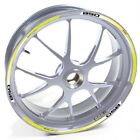 USEN Sticker wheel Rim Moto Guzzi silver Breva 850 Yellow strip tape vinyl adhes