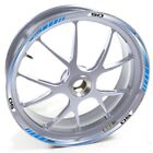USEN Sticker wheel Rim Derbi silver Supermotard X Treme 50 Blue strip tape vinyl