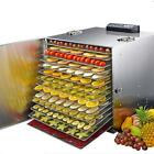 220V 15 Tray Electric Food Dehydrator Stainless Steel Food Fruit Meat Dryer Vege