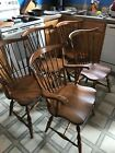 Pennsylvania House SET OF 5 Maple Windsor Brace Back Side Dining Chairs