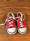 Converse Chuck Taylor Red Toddler 7 Boy Girl Shoes Lace Up