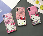Cute Hello Kitty Soft TPU Silicone Rubber Case Cover for iPhone 8 7 6 6s plus X