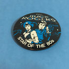 Gottliebs Buck Rogers Star of the 80s Large Pin Button Blue Black 1979 Vintage