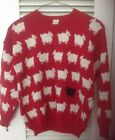 Princess Diana Black Sheep Pullover Sweater In Red Very HTF