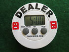 The Original White Poker Blind Timer Dealer Button All in One