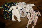 baby boy sleepers lot of 5 size 6 9 months