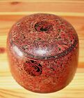 Burmese Hand Crafted Hand Painted Black and Red Lacquerware Temple Tea Cup