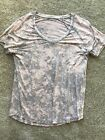 American Eagle Soft And Sexy Tee Shirt V Neck PINK  GREY SMALL