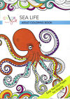 Colorfull Sea Life Adult Coloring Book Easy Tear Out Pages for Display NEW
