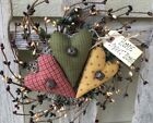 PIP BERRY WREATH - Primitive Heart Hanger -Housewarming - Primitives By Cyn
