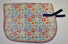 Wilkers English Saddle Pad Stars Hearts and Rainbows Pattern