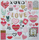 New Crate Paper  HEART DAY  12 x 12 Chipboard Save 40