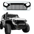 W7 Black White Angry Bird Front Grille Hood For 2007 2018 Jeep Wrangler JK 2 4Dr