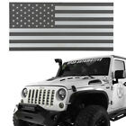 2007 2018 Jeep Wrangler JK Black  White USA Flag Front Iron Mesh Grille Insert