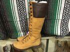 TIMBERLAND Tan Leather Tall Lace Up Boots Womens Size 8