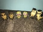 Nice Lot Of Vintage Made In Japan Owl Salt And Pepper ShakersLQQK