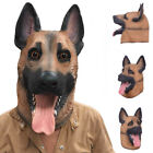 Dog Head Latex Mask Full Face Adult Mask Breathable for Halloween Masquerade