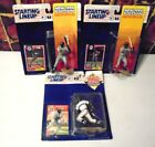1990's Starting Lineup Baseball Figures Lot of (3) Griffey Jr. + Barry Bonds 86