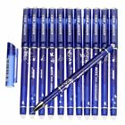 12pcs 05mm Erasable Pen Blue Gel Ink Pens Set School Kids Students Stationery
