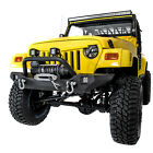 Rock Crawler Front Bumper+Winch Plate+2x LED Light for 97 06 Jeep Wrangler TJ