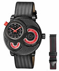 GV2 By Gevril Men's 8305 Macchina Del Tempo Limited Edition Black Leather Watch